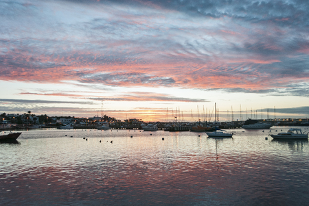 Stunning Sunset at Punta del Este Port, Uruguay.