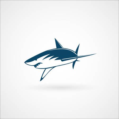 haai aanval teken op witte achtergrond vector illustratie Stock Illustratie