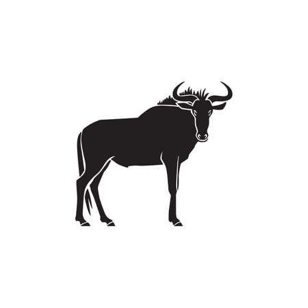 wildebeest logo sign vector illustration on white background