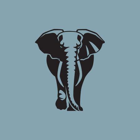 olifant op blauwe achtergrond vector illustratie
