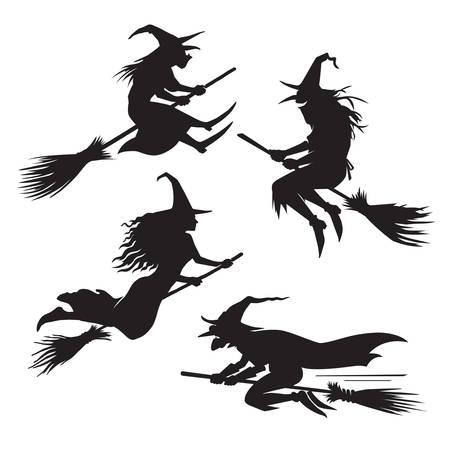 Heksen silhouet set