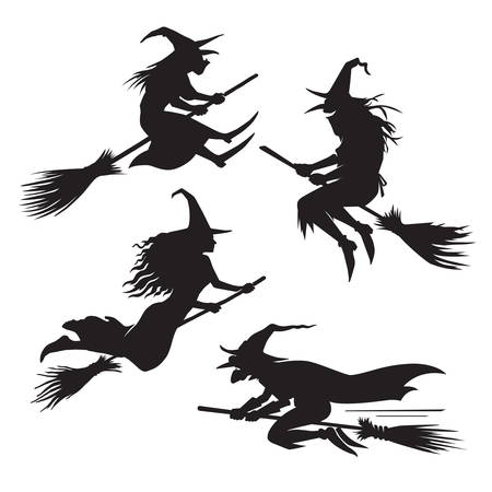 Witches silhouette set