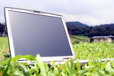 Laptop Outside