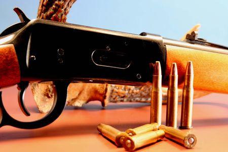 palanca: Rifle de palanca de acci�n  Foto de archivo