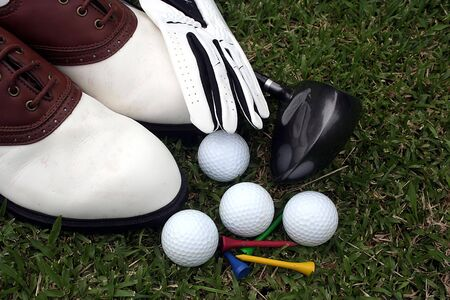 golf equipment: Golf Equipment Stock Photo