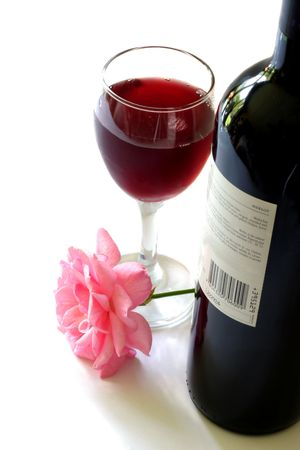 Wine and Rose Stock Photo - 729053