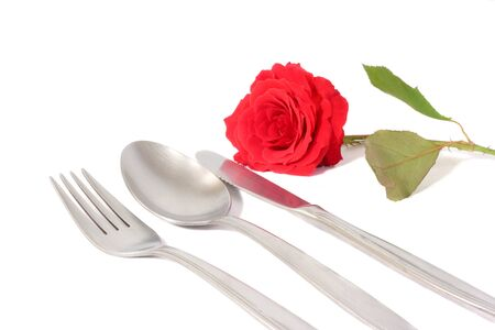Silverware and Rose photo