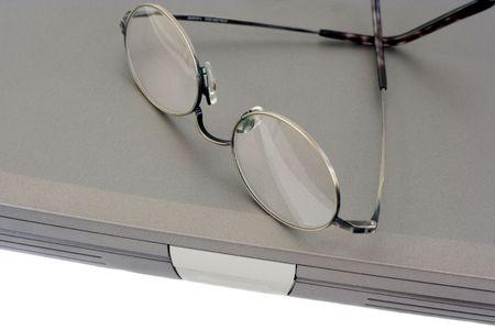 inter: Eyeglasses on Laptop