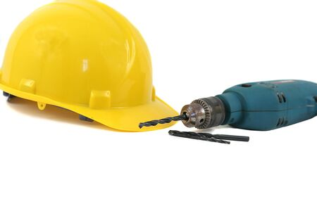 Hardhat and Drill Stock Photo - 2024579