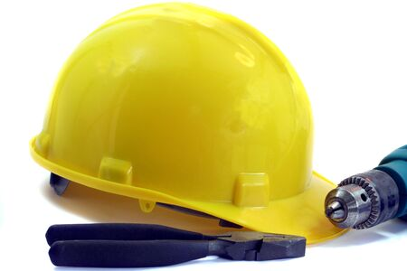 Tools and Hard Hat Stock Photo - 2024608