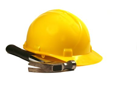 Hard Hat and Hammer Stock Photo - 2024585