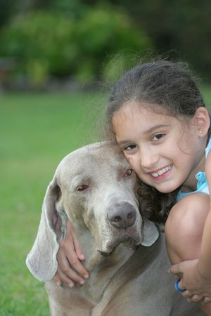 Small Girl and her pet Stock Photo - 3068343
