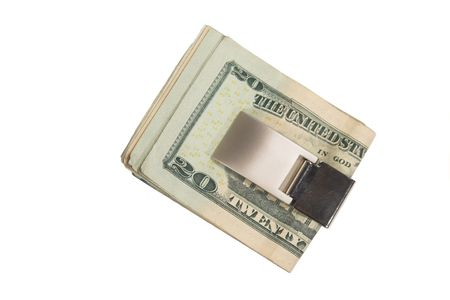 Money Clip isolated on white