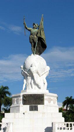 Balboa Monument at Panama City, Panama. Pacific Ocean Discoverer.