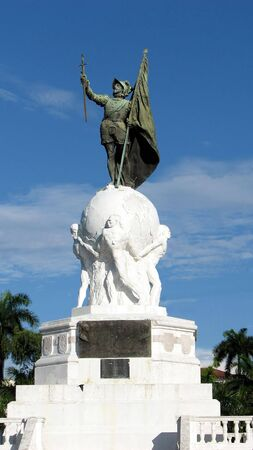 conquistador: Balboa Monument at Panama City, Panama. Pacific Ocean Discoverer.