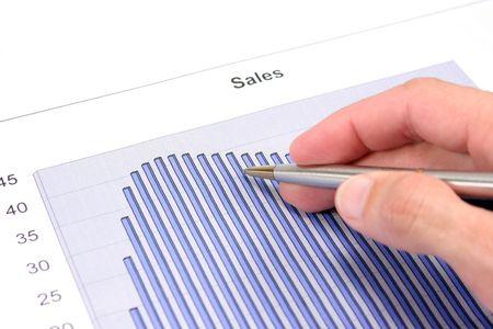 Sales Graph Stock Photo