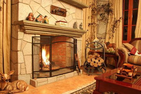 Fireplace Stock Photo - 3110871