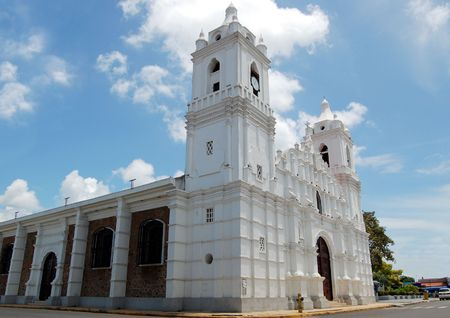 Small town church in the  of Panama