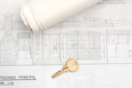 New Home Blueprints Stock Photo - 3751617