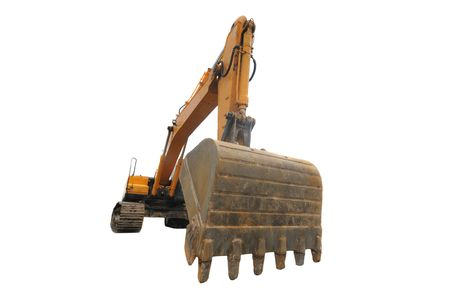 Big digger isolated on a white background photo