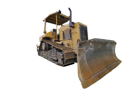 Bulldozer isolated on white Stock Photo - 4075570
