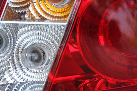 Macro shot of a tail lamp from s csr Stock Photo - 5034510