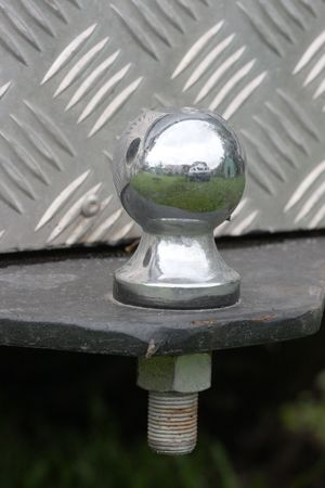 Macro shot of a trailer hitch on a truck