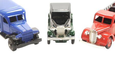 Three toy cars over a white background Stock Photo - 5575264