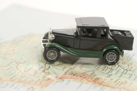 Toy car over a map of south america Stock Photo - 5575268