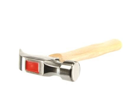Macro shot of a hammer isolated on a white background Stock Photo - 6663533
