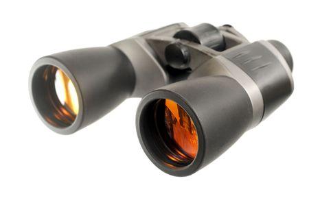 Pair of binoculars isolated on white