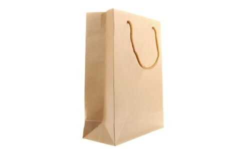 Brown paper bag isolated on a white background Stock Photo - 6755526