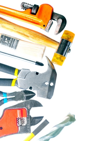 Group of tools isolated on a white background Stock Photo - 16442200