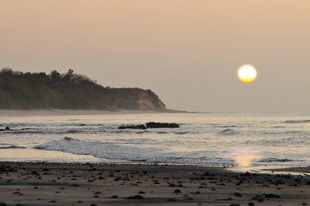 Beautiful colorful sunrise at Corona Beach, Panama