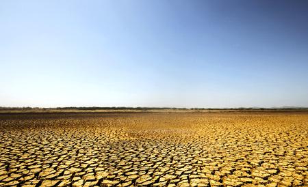 Barren desert land in national park Sarigua in Panama