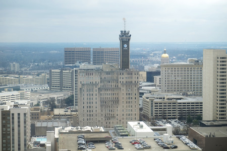 Atlanta Georgia- January 29, 2015 :  View of part of the city of Atlanta showing the ATT Tower and State Capitol,  January 29, 2015  in Atlanta , Georgia.