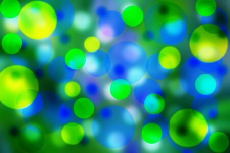Beautiful bubbles effect illustration showing a vibrant Blue, yellow and green background Stock Photo