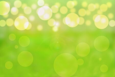 Beautiful bubbles effect illustration showing a vibrant yellow and green background