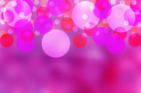 Beautiful bubbles effect illustration  showing a vibrant purple background