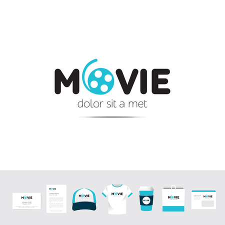 cable tv: Piggy Movie business company  template sign