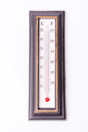 Thermometer indicates regular temperature, three dimensional rendering Stock Photo