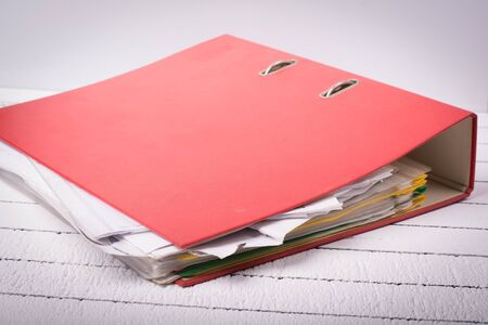 secretary tray: Complete folder with documents for job, administration and office
