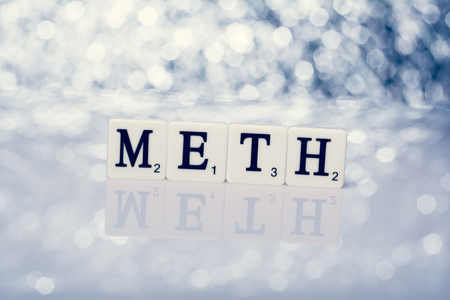 meth: Created word of tiles with letters - meth