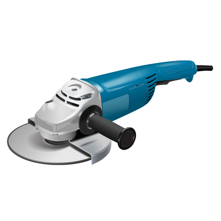 cutoff: ?ngle grinder. Construction tool. Used for cutting and grinding stone and metal.