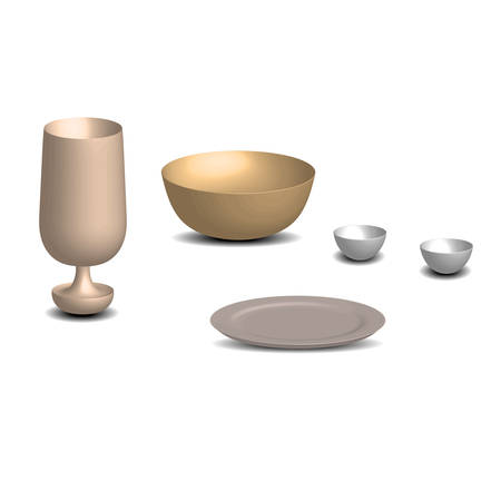 empty bowl: bowl glass dish vector Illustration