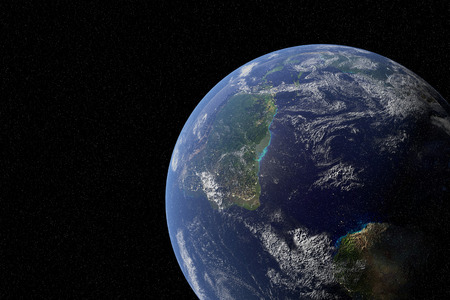 Highly detailed planet from space. Elements of this image furnished by NASA Stock Photo