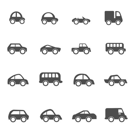 small business: Car icons set vector