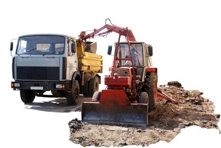 Special technique for repair of roads and road construction. photo