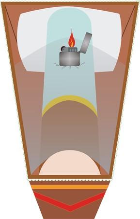 acolchado: Ilustraci�n de los peligros del h�bito de fumar y a lo que puede provocar esta mala costumbre.