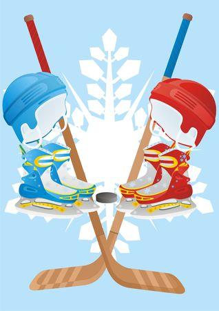 Winter sport. Amenities hockey player.
